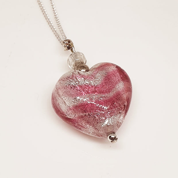 Mirano Glass heart pend