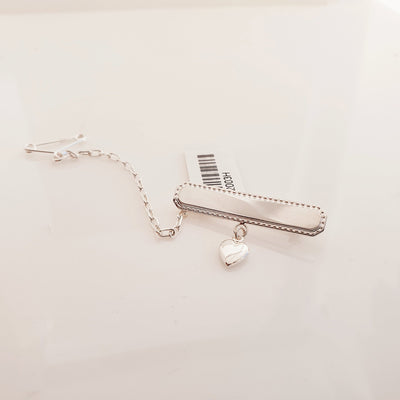 Sterling silver baby brooch