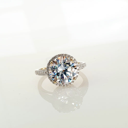 9ct cubic zirconium dress ring