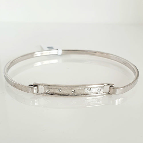 Sterling silver Diamond bangle.