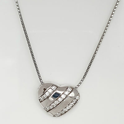 Sterling silver CZ necklace on a 45cm Sterling silver chain