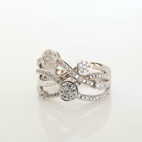 Sterling silver CZ ring.