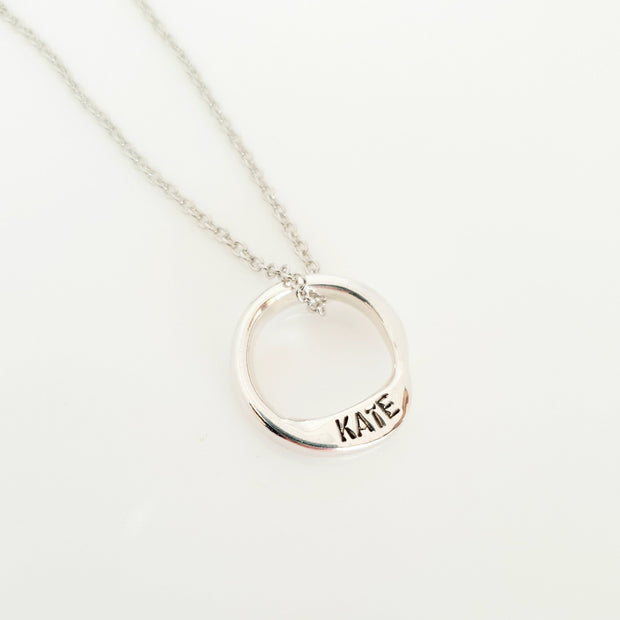 Sterling silver 20mm name circle