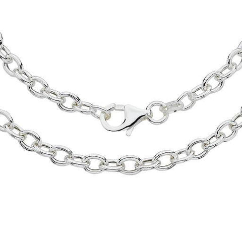 Sterling Silver cable chain 55cm