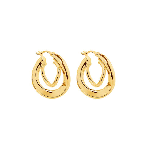 Sterling silver gold plated hoops