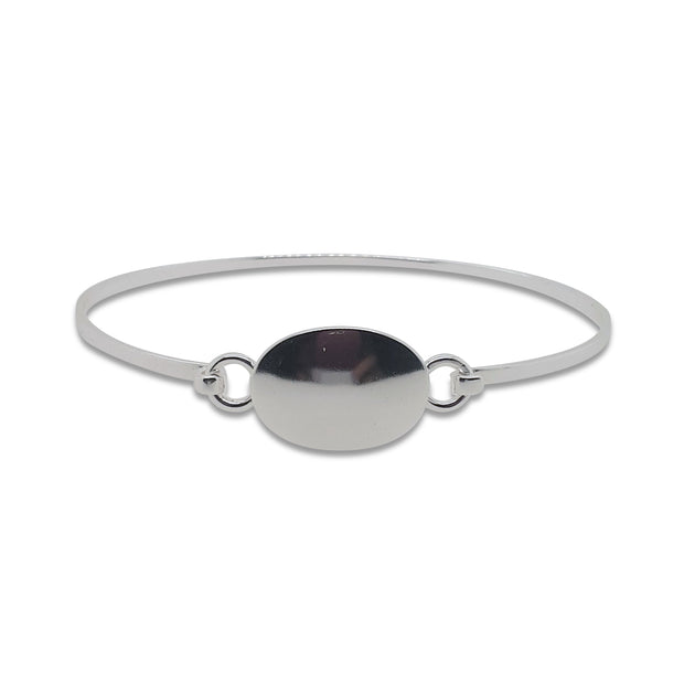 sterling silver bangle.