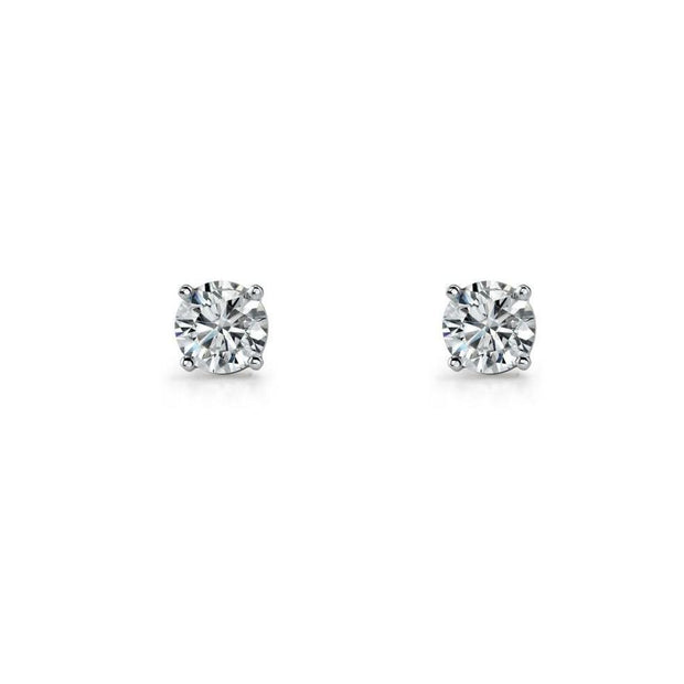 Sterling silver CZ studs.