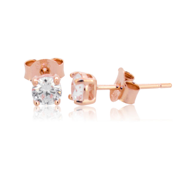 Sterling silver RGP cz studs
