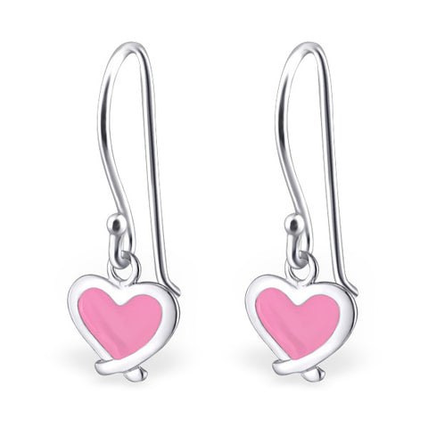 Heart hook earrings.