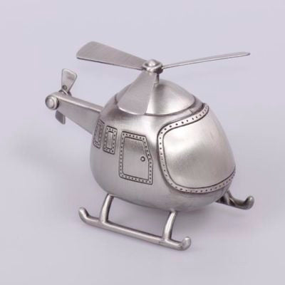 Pewter Finish Helicopter money box.