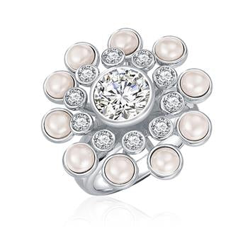 Kagi Pearl Chrysanthemum Ring