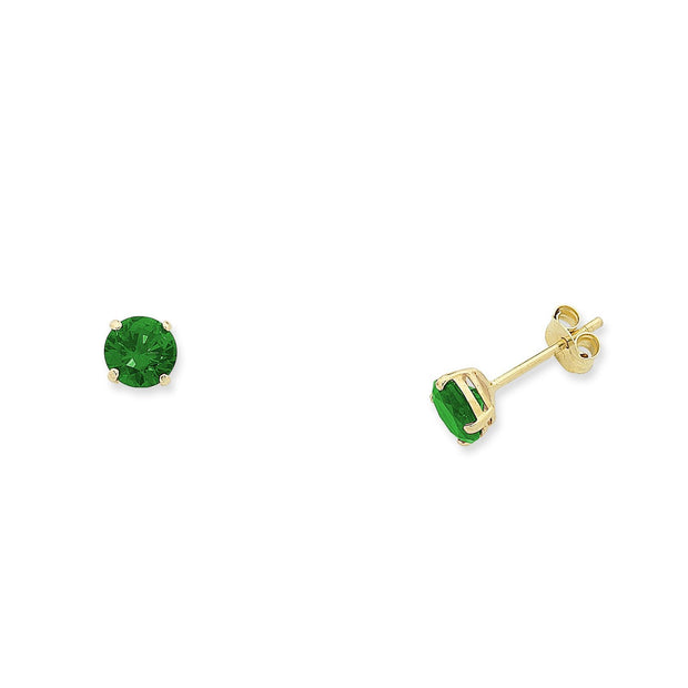 9ct Natural Emerald stud earrings.