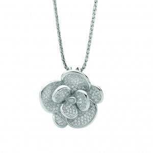 Georgini CZ rose necklace.