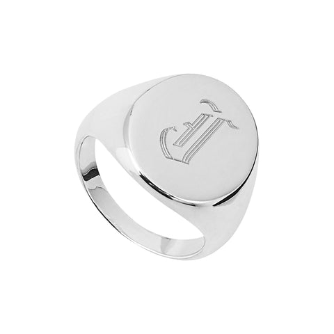 Sterling silver signet ring.