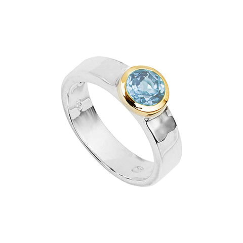 Sterling silver Blue Topaz ring.