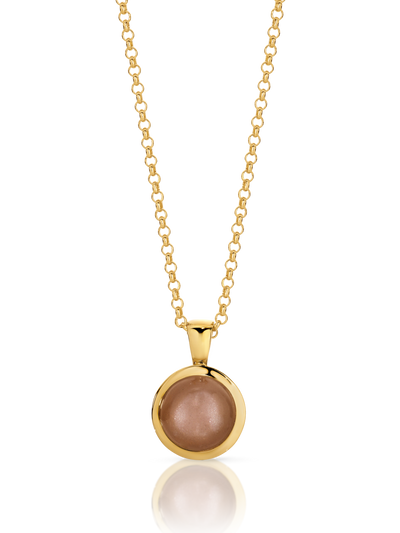 YGP Natural Peach Moonstone Necklace.