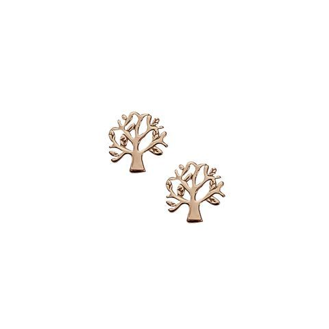 Sterling silver tree studs.