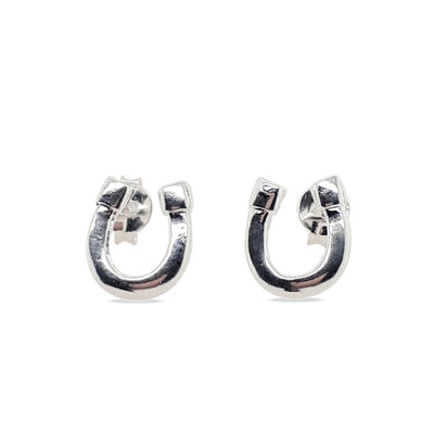 Sterling Silver horseshoe earrings.
