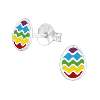 Sterling silver easter earrings