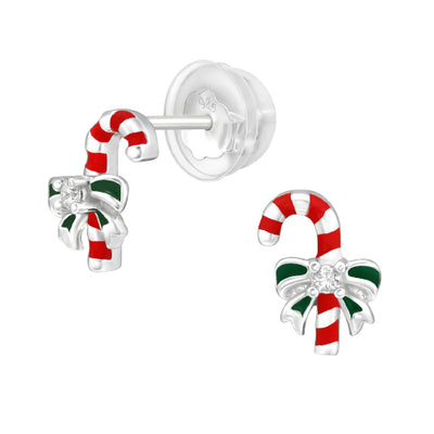Sterling silver xmas earrings