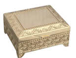 Gold plated jewel box