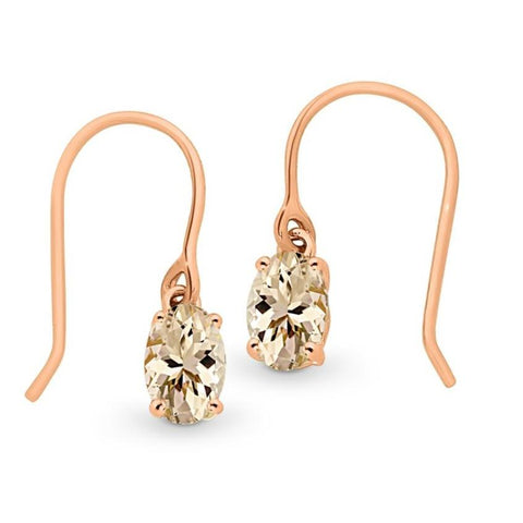 9ct shepherd hook earrings.