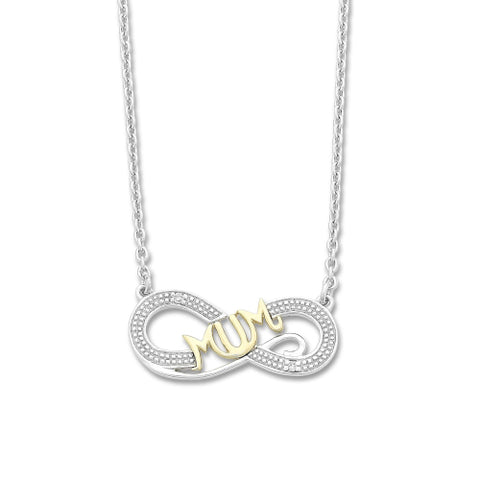Sterling silver Mum necklace.