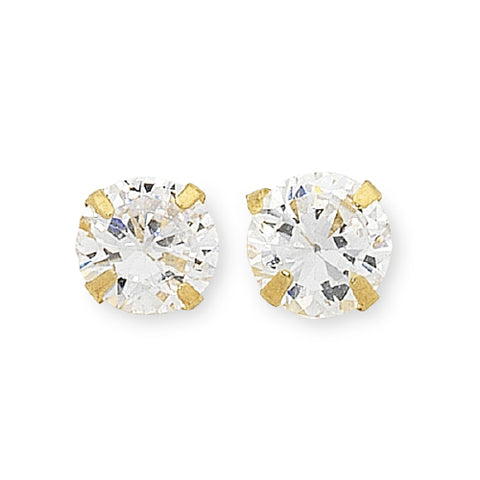 9ct CZ stud earrings
