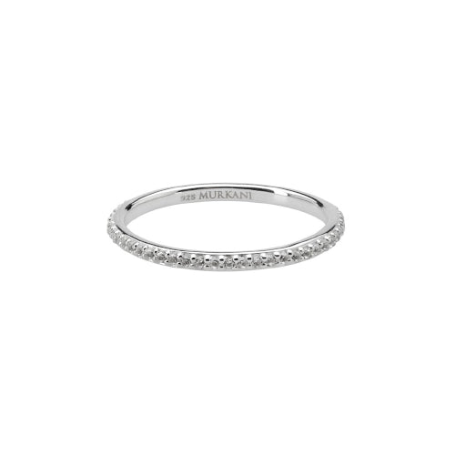 White Topaz Eternity ring by Murkani Silver