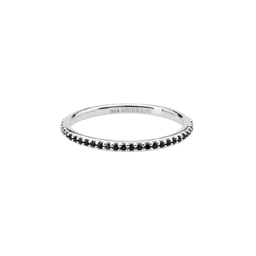 Eternity Ring with Black Spinel by Murkani
