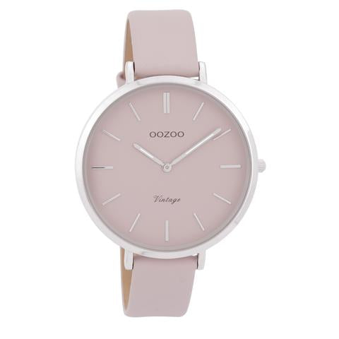Oozoo silver and pink beige band.