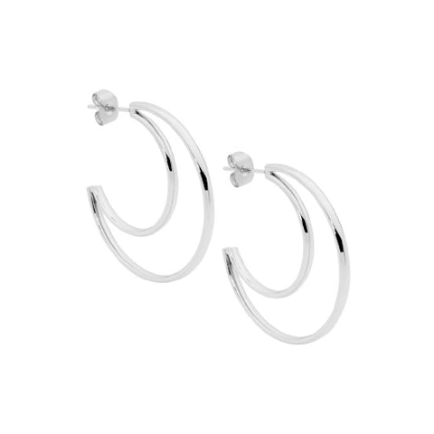 Ellani Jewellery steel hoops. Steel