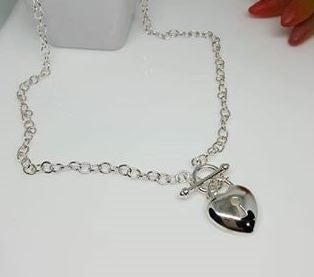 Sterling Silver heart necklace.