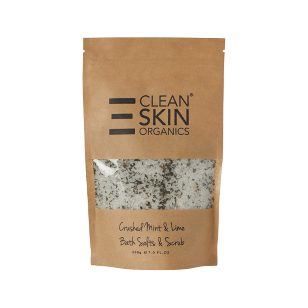 Crushed Mint & Lime Bath Salts & Scrub