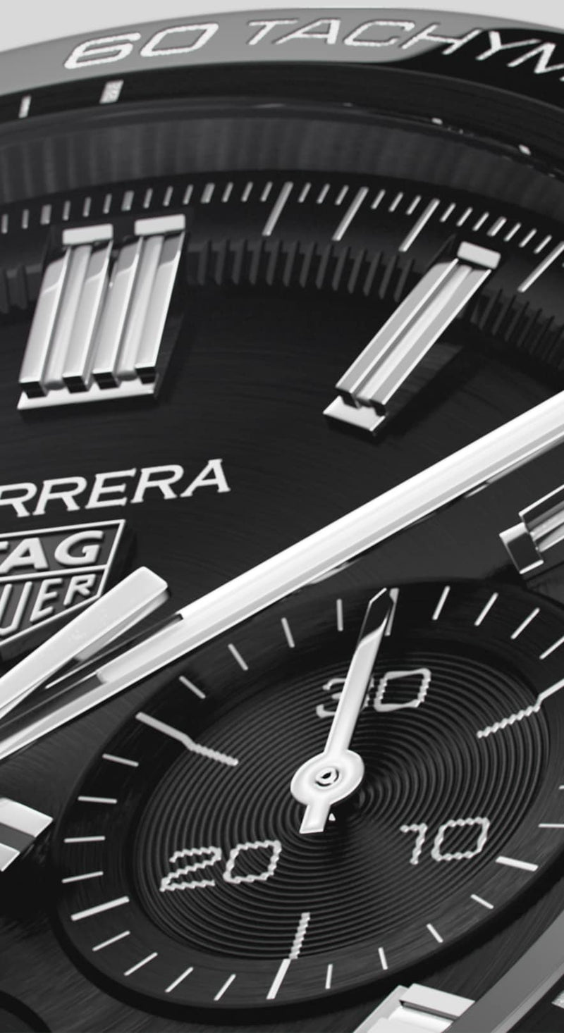 TAG Heuer Carrera Heuer 02 Automatic Chronograph 44mm Stainless Steel Watch CBN2A1B.BA0643 - Vincent Watch