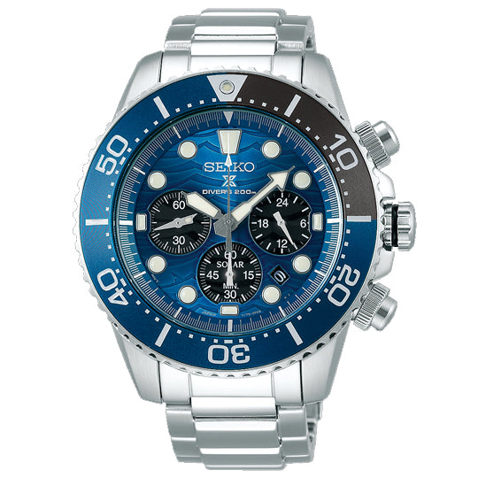 "SEIKO PROSPEX SOLAR ""SAVE THE OCEAN"" SHARK SERIES SPECIAL EDITION SSC741P1"