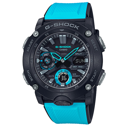 CASIO G-SHOCK CARBON GA-2000-1A2DR