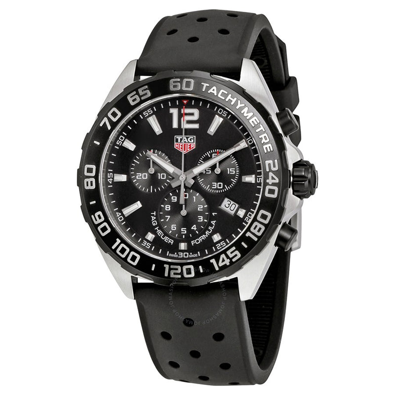 TAG Heuer Formula One Chronograph 43mm Rubber Watch CAZ1010.FT8024 - Vincent Watch