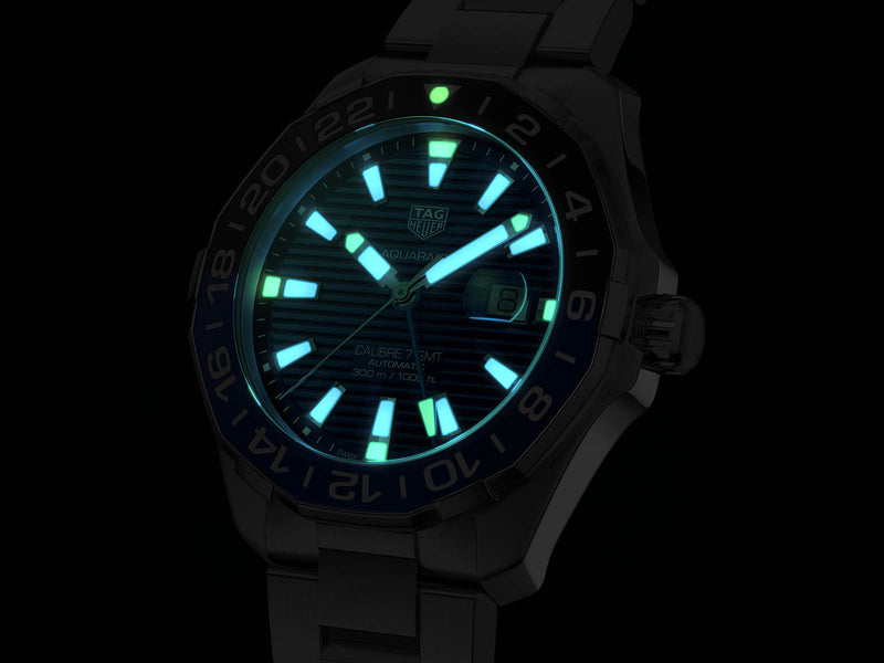 TAG Heuer Aquaracer GMT 43mm Stainless Steel Watch WAY201T.BA0927