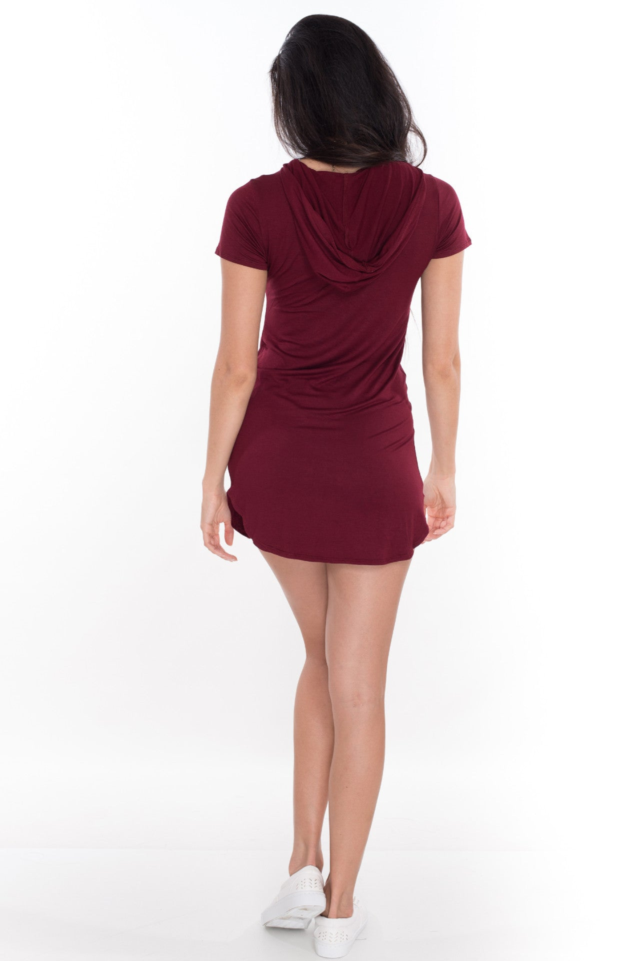 Around The Way Girl Dress - Burgundy