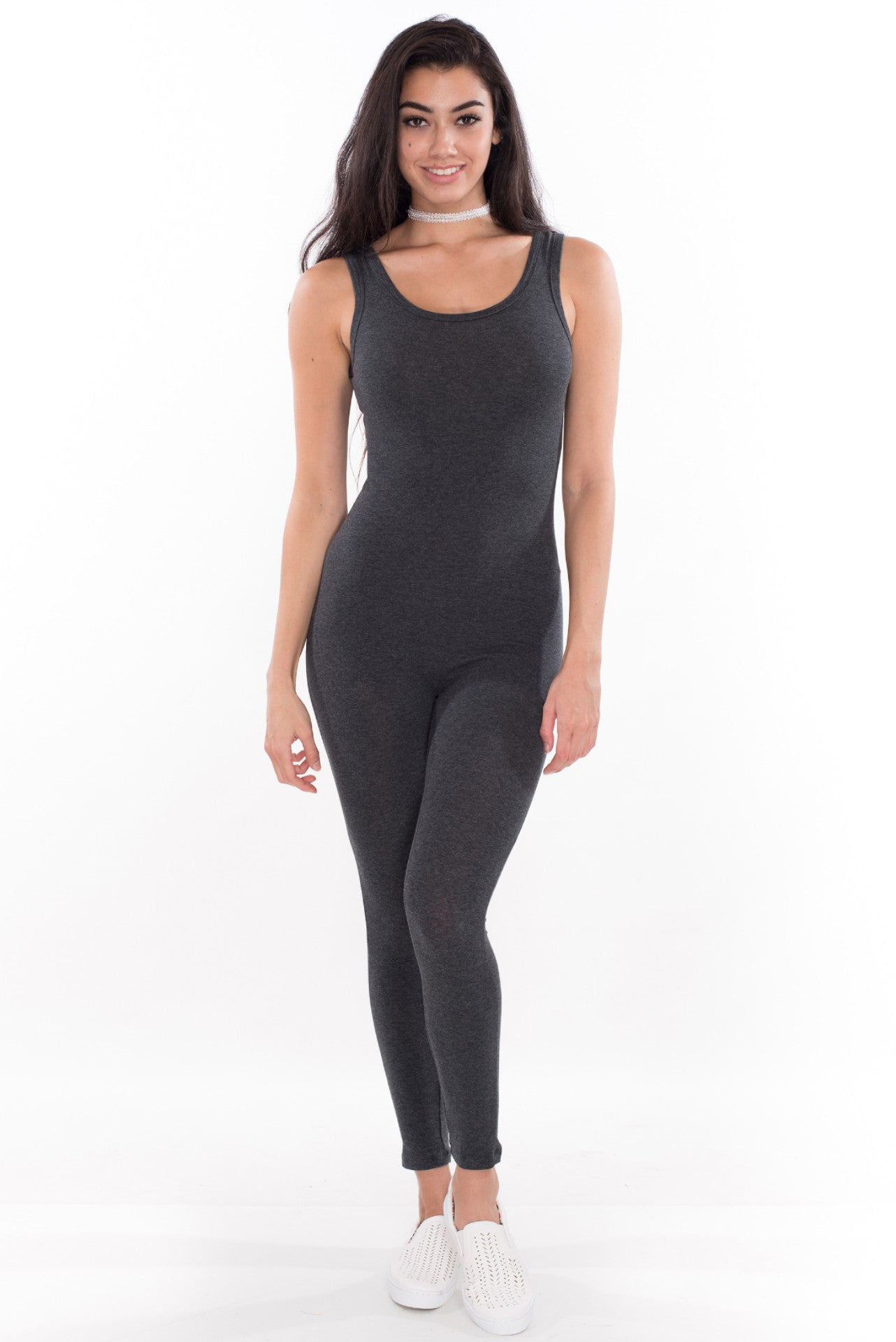 Kitty Catsuit - Charcoal