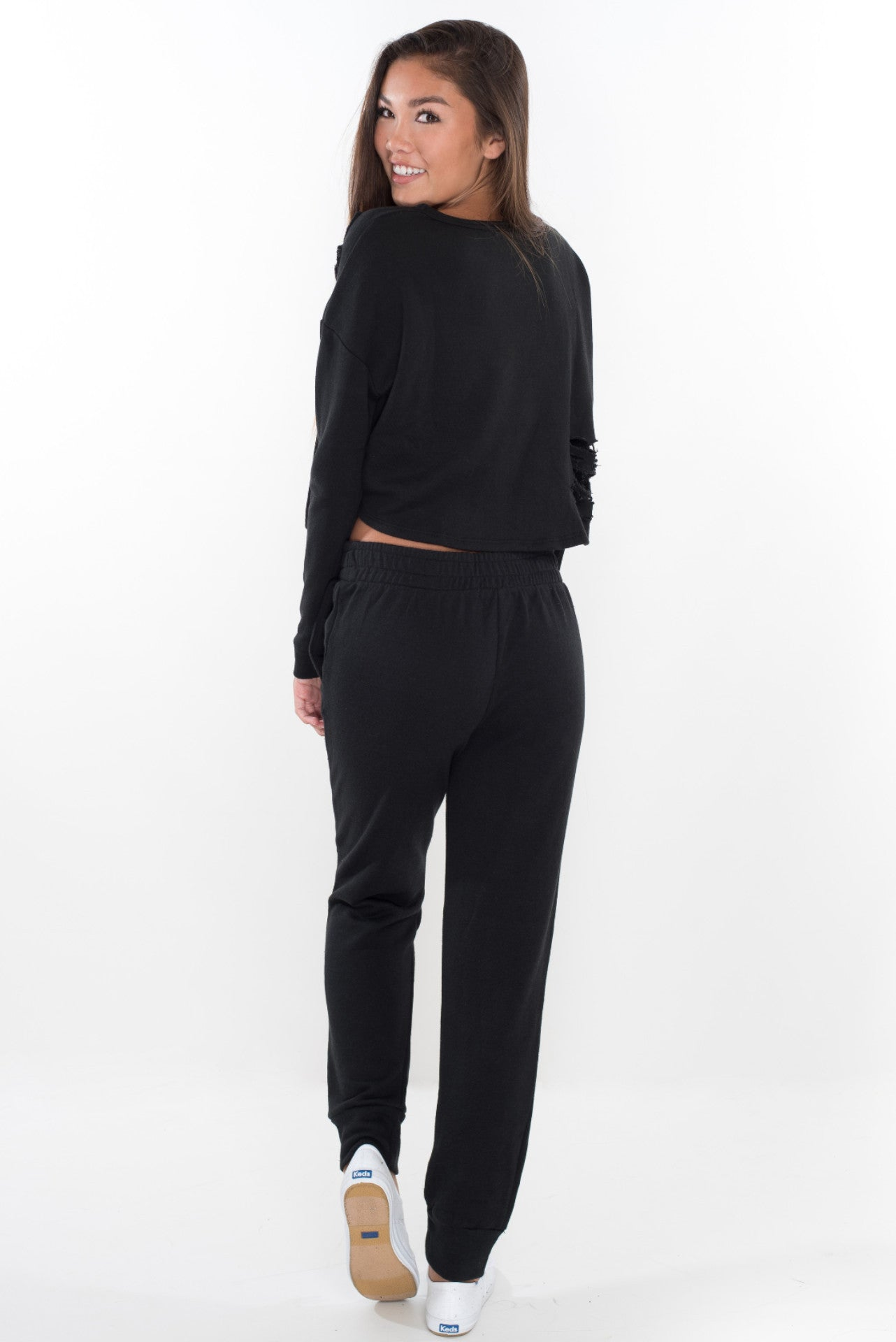 Baby Girl Sweat Pants - Black