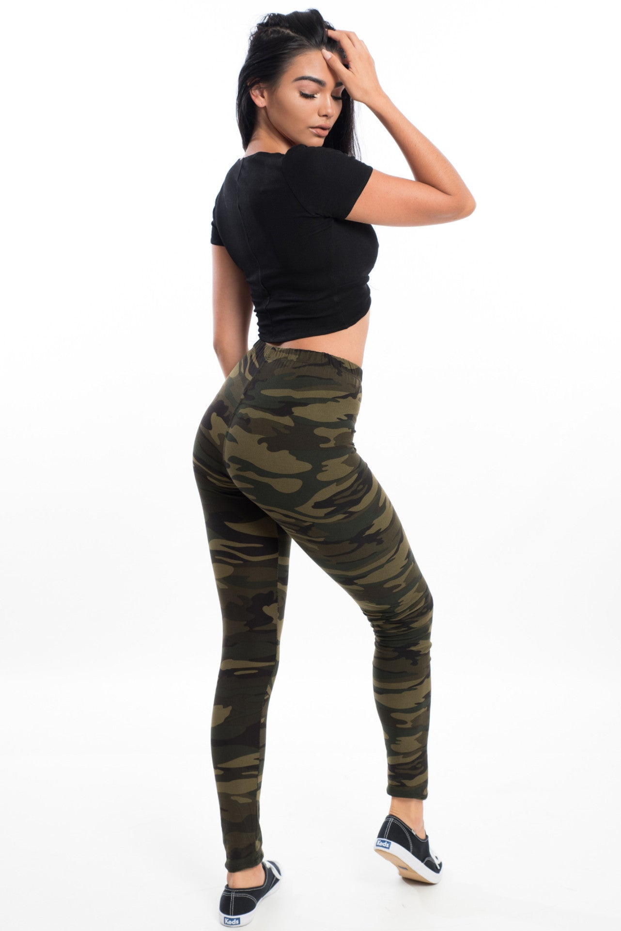 Booty Love Leggings - Army Strong