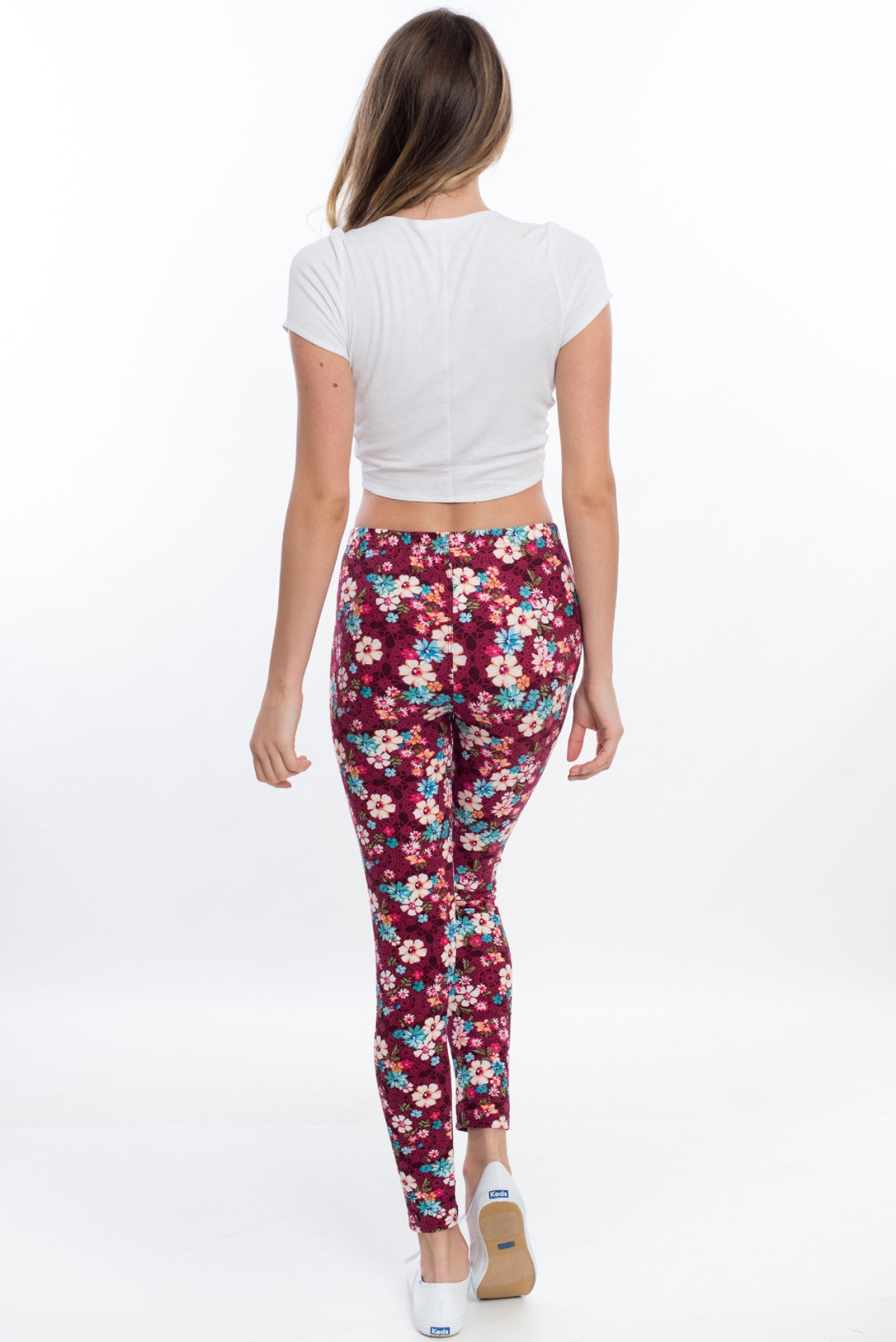 Booty Love Leggings - Wine Floral