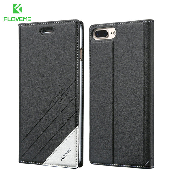 Flip Leather Holster Case For iPhone