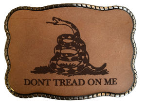 Don't Tread on Me Laser Etched Leather