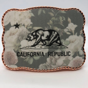 Vintage Floral California Flag