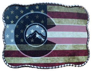 Rustic American Flag/ Colorado Flag