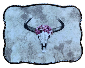 Cow Skull with Purple Flower Crown