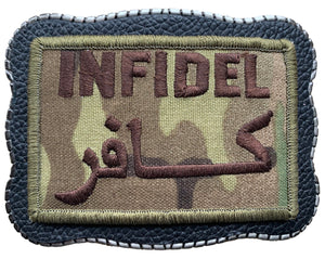 Infidel Patch on Leather